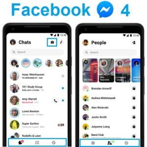 Facebook Messenger 4 new layout