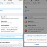 how to change screen time passcode