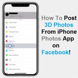 How to post a 3D Photo on Facebook from iPhone