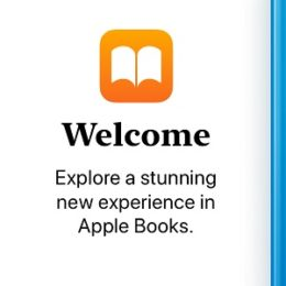 iOS 12 Apple Books welcome message.