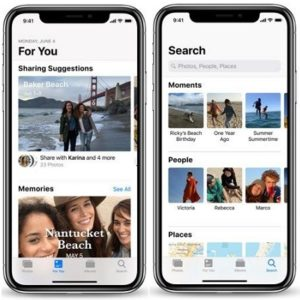 iOS 12 Photos app For You tab and Search suggestions