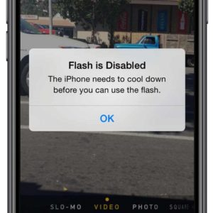 iPhone 'Flash is disabled' Camera error