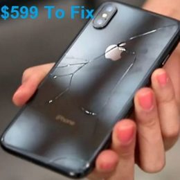 iPhone XS Max back panel replacement cost.