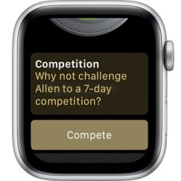 watchOS 5 Activity competition feature