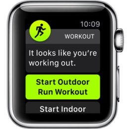 watchOS 5 automatic workout detection notification.