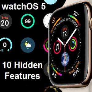 watchos 5 hidden features
