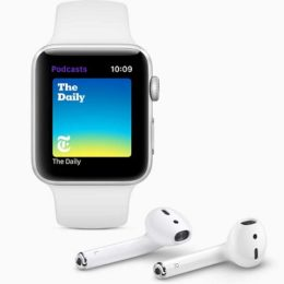 watchOS 5 Podcasts app and AirPods.