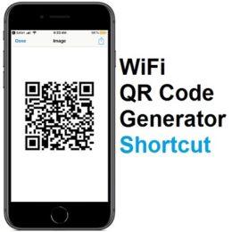 WiFi QR code generator shortcut for iOS