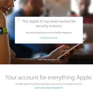 Apple ID locked out because of security reasons