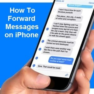 How to Forward Messages on iPhone