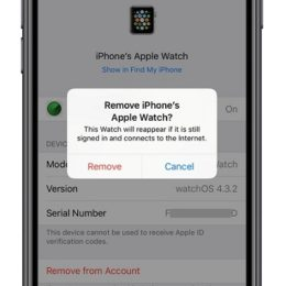 Removing Apple Watch from Apple ID