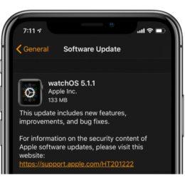 watchOS 5.1.1 Software Update