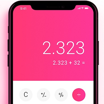 iphone x calculator design concept