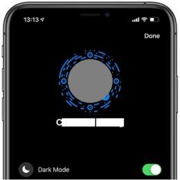Facebook Messenger Dark mode on iPhone.