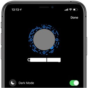 Facebook Messenger Dark mode on iPhone.