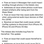 ios 12.1.3 release notes