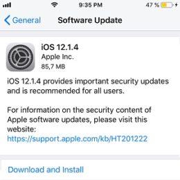 ios 12.1.4 software update
