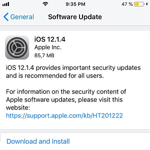 ios 12.1.4 software update