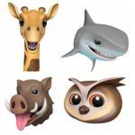 giraffe, shark, boar and owl ios 12.2 new animoji