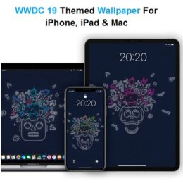 wwdc 19 themed wallpaper for iphone, ipad and mac