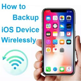 How to backup iOS device wirelessly.