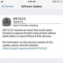 iOS 12.3.2 Software Update for iPhone 8 Plus.