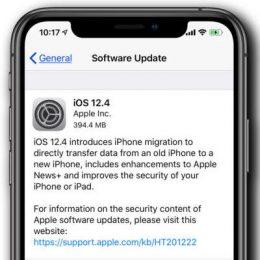 iOS 12.4 Software Update Screen.