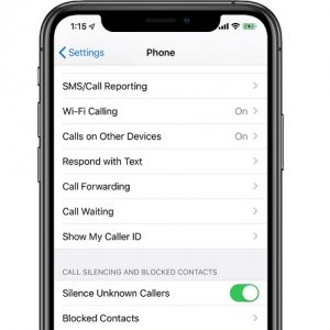 ios 13 silence unknown callers setting