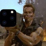 iPhone 11 pro Arnold Schwarzenegger rocket launcher