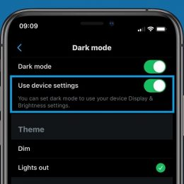 twitter support for ios 13 dark mode