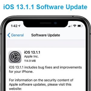 iOS 13.1.1 Software Update