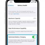 optimized battery charging option