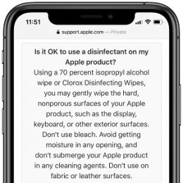 Apple confirms iPhone can be wipe-cleaned with medical alcohol