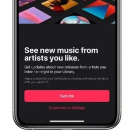 Apple Music new in-app notifications splash screen