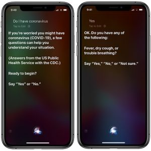 Do I have coronavirus? - iPhone questionnaire via Siri