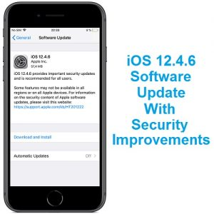 iOS 12.4.6 Software Update for older iPhone and iPad models