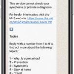 short dial numbers for whatsapp coronavirus communication channel