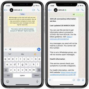 The British WhatsApp official coronavirus information channel