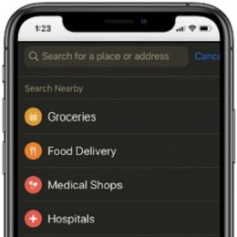 Apple Maps prioritizes Groceries, Food Delivery and Medical service location suggestions