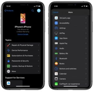 Apple Support app gets Dark Mode and other enhancements