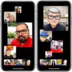 Group FaceTime call on iPhone with Prominence feature On