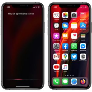How to command Siri to open the Home screen
