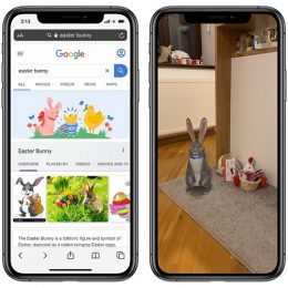 Trick to 3D project the Easter Bunny in your house