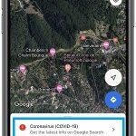 Google Maps COVID-19 info prompt