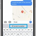 how to send current location in Messages