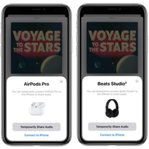 How to share audio from iPhone to friend's AirPods or headphones