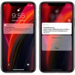 iPhone 11 rich test notifications for Gmail app