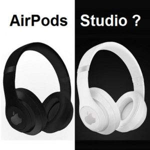 AirPods Studio render in black and white colors