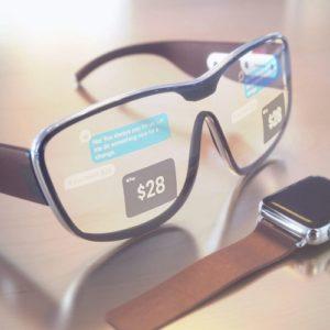 Apple Glass render showing in-lens display
