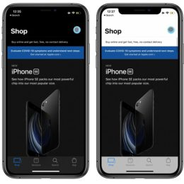 Apple Store app for iOS Dark vs Light Mode